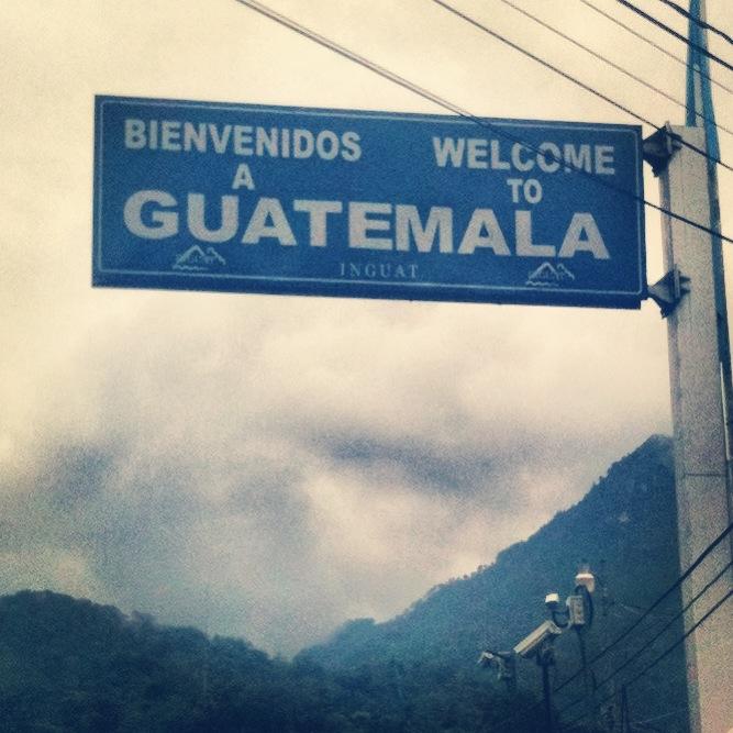 Guatemala border in La Mesilla