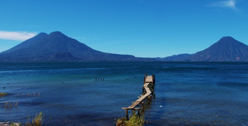 Lake Atitlan from the shores of Panajachel - Aldous Huxley was right!