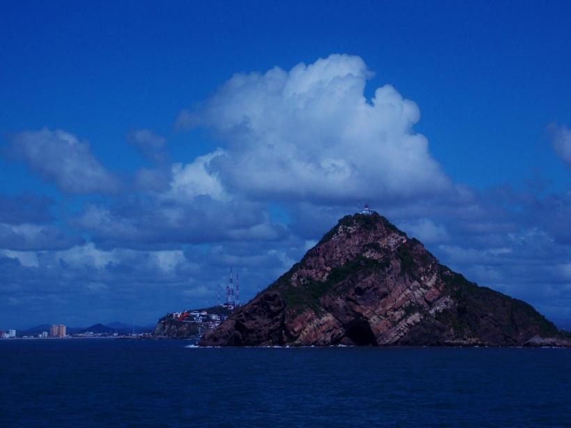 Coast of Mazatlan and El Faro Lighthouse