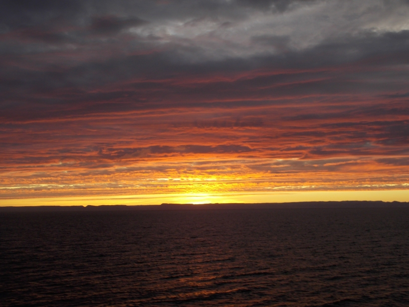 Sunset over the Sea of Cortez
