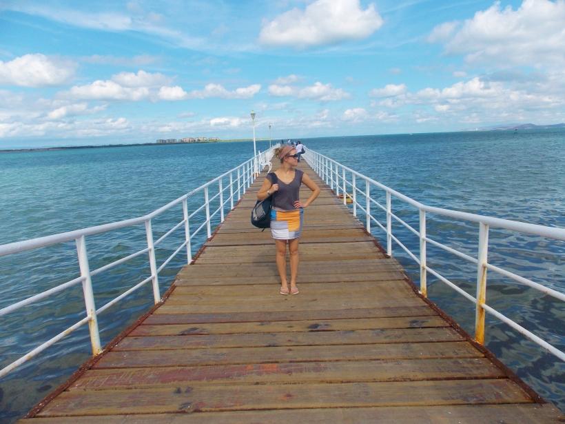 Malecon pier in La Paz #hoptgf
