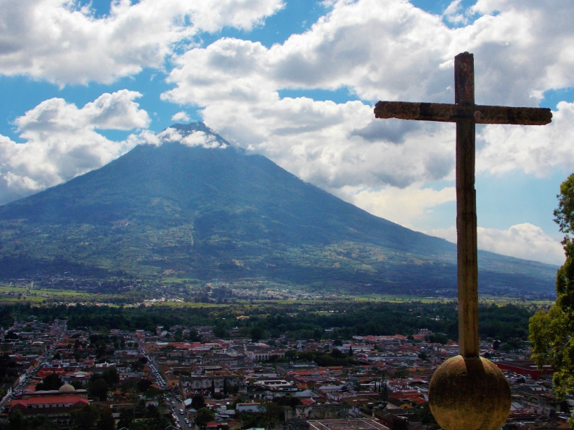 Cerro De La Cruz overlooking Antigua and Volcan Agua