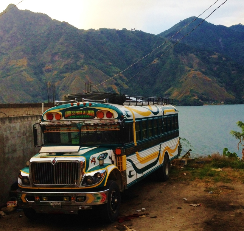 Chicken bus of San Pedro