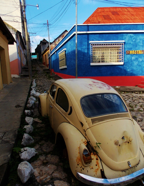 Colourful cobbled streets of Flores