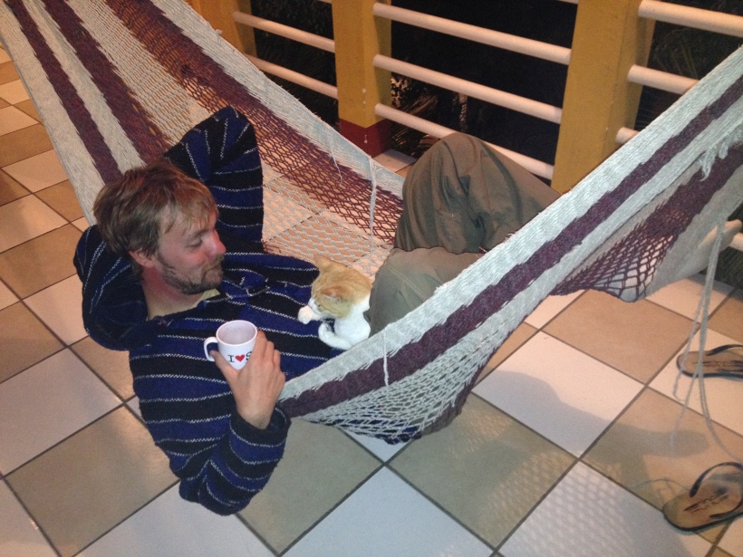 Hammock, red wine and Oscar...good times!
