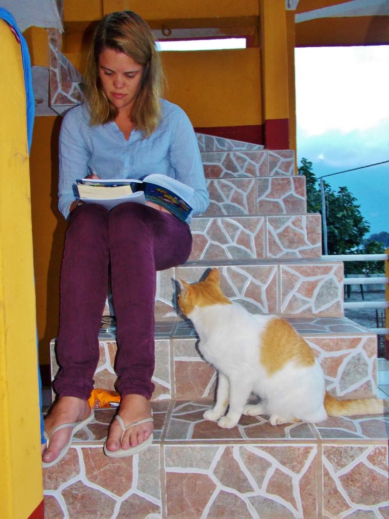 Oscar helping Ollie with her homework