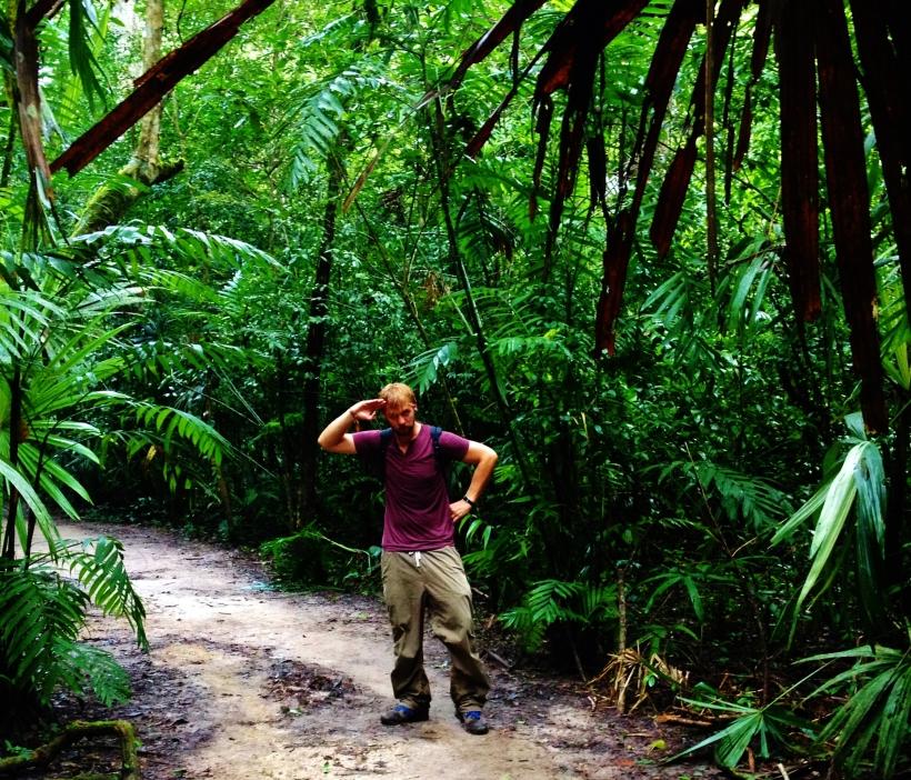 Sweaty trek through the jungle