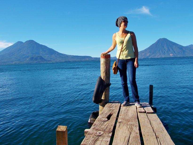 The three volcanoes of Lake Atitlan - Atitlan, Toliman and San Pedro