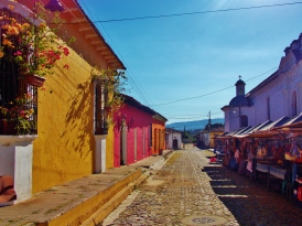 Bright colours of Suchitoto