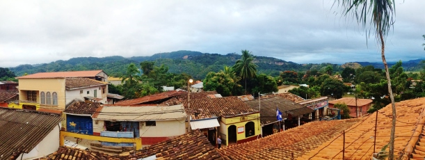 Copan Ruinas town panorama