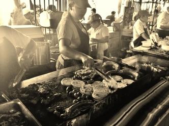 Food festival stall - Juayua