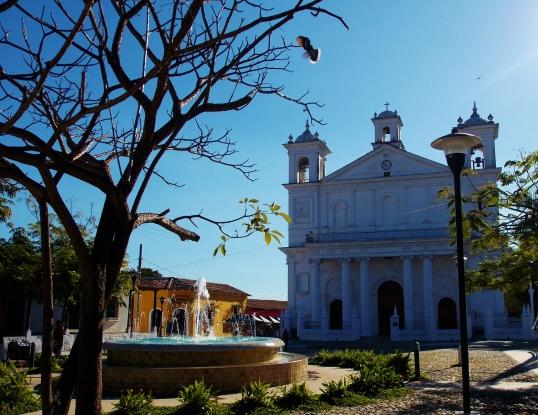 Iglesia Santa Lucia over Park Centenario