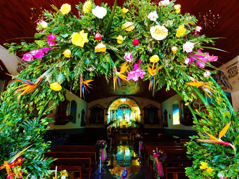 Inside the Ataco church