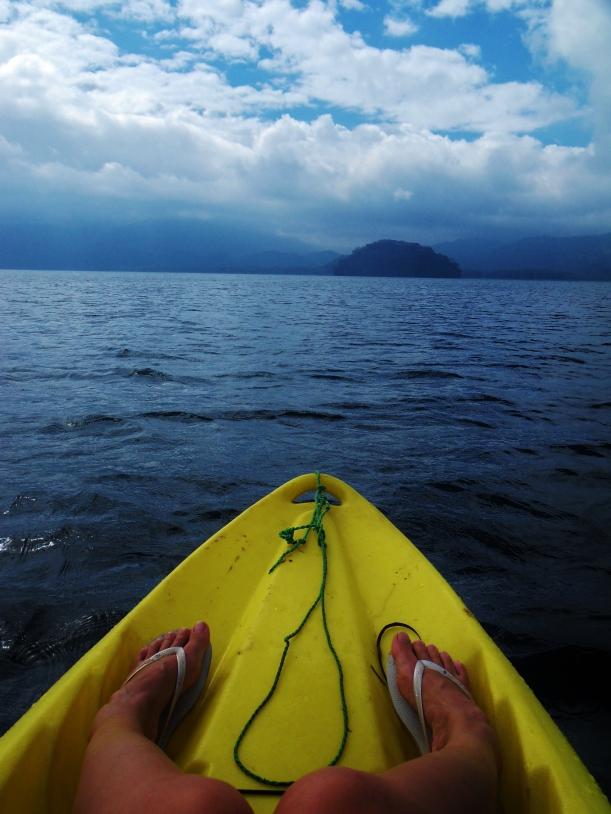 Kayak on Lake Yojoa