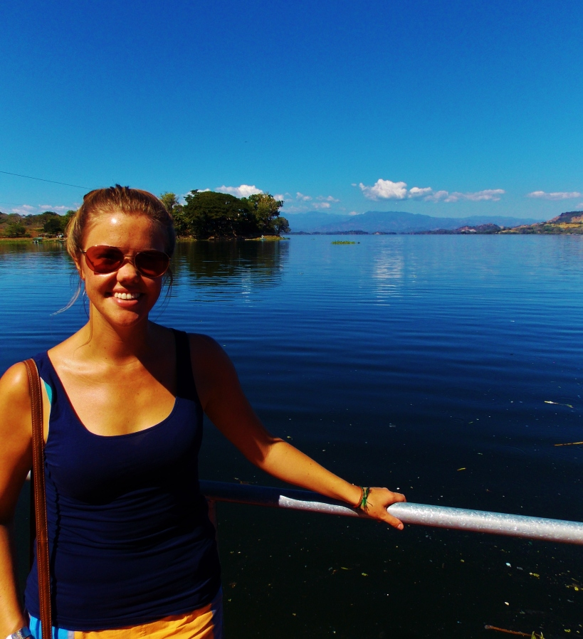 Lake Suchitlan pose