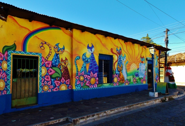 More brightly painted houses along the Ruta de las Flores in Ataco