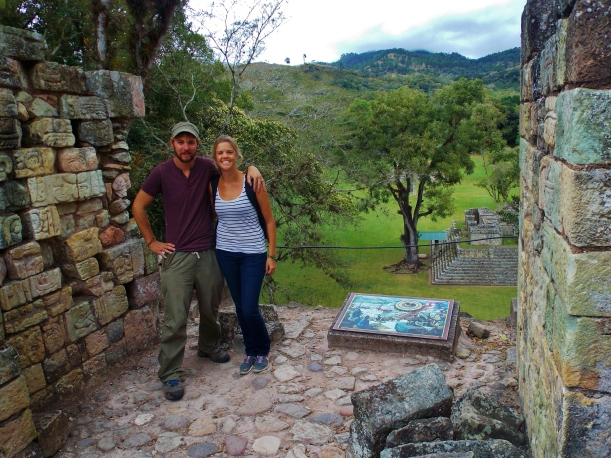 Temple 11, overlooking the Plaza central, Copan Ruins