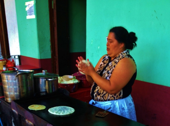 The Pupusa lady, she was awesome