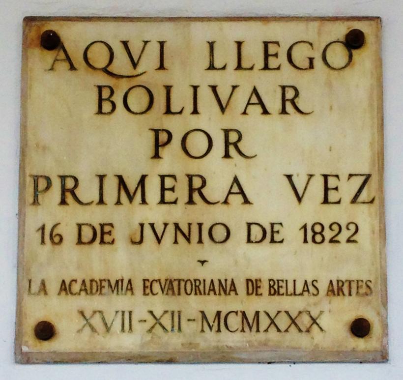 Bolivar plaque