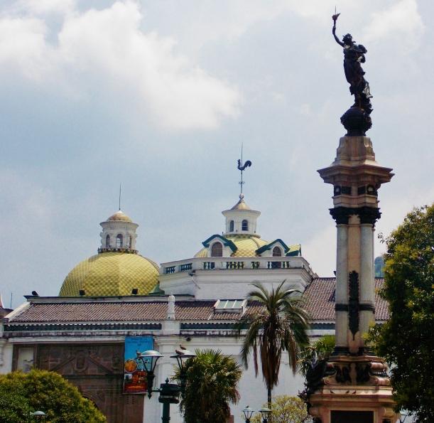 La Compañía de Jesús with its moorish influenced dome in the background