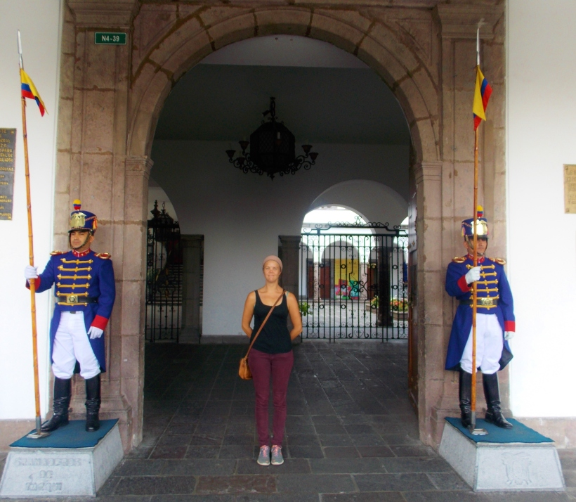 Guards of the Palacio del Gobierno (Presidential Palace)