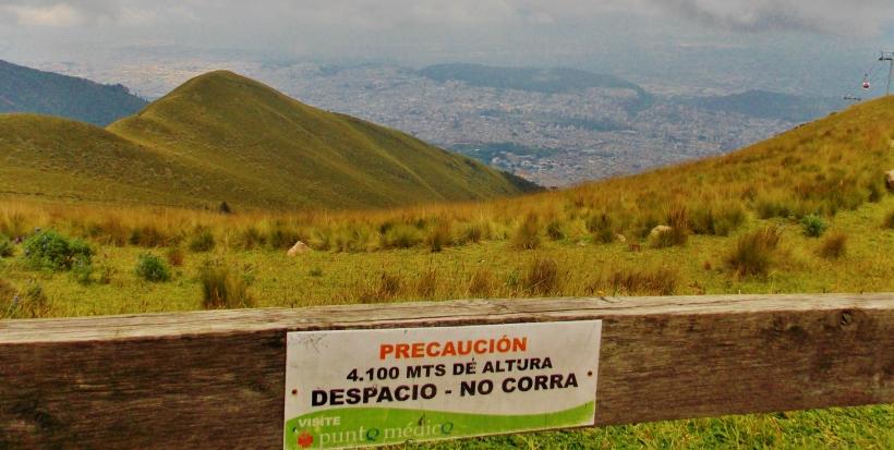 Cruz Loma, top  of the TelefériQo