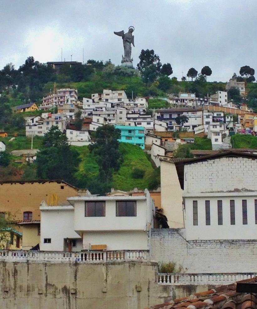 Panecillo (the virgin of Quito)statue from La Ronda