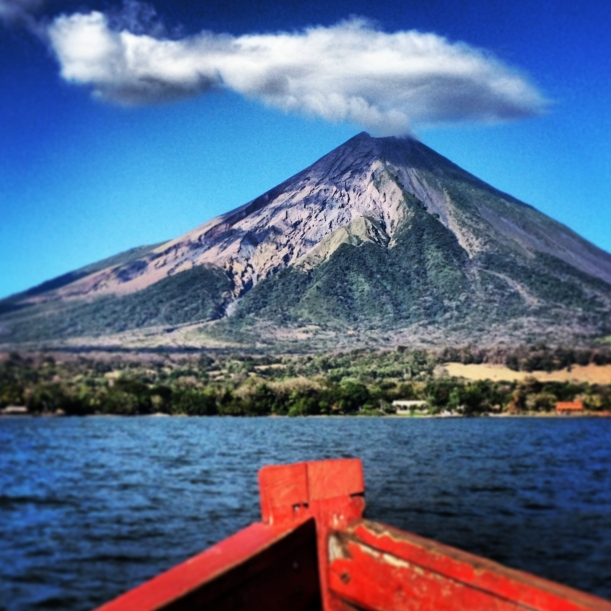 Approaching the menacing Volcan Concepcion