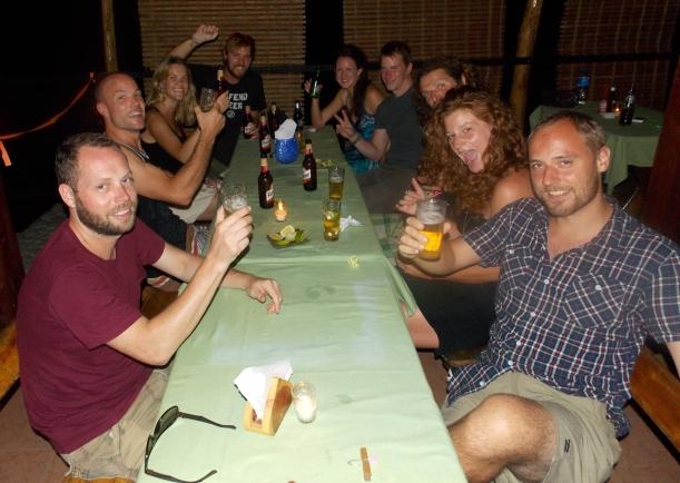 Farewell dinner at Aldos restaurant