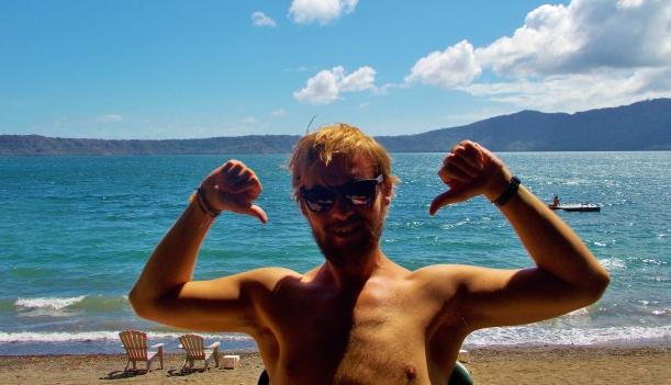 Lake Apoyo- Sorry about the nipple shot