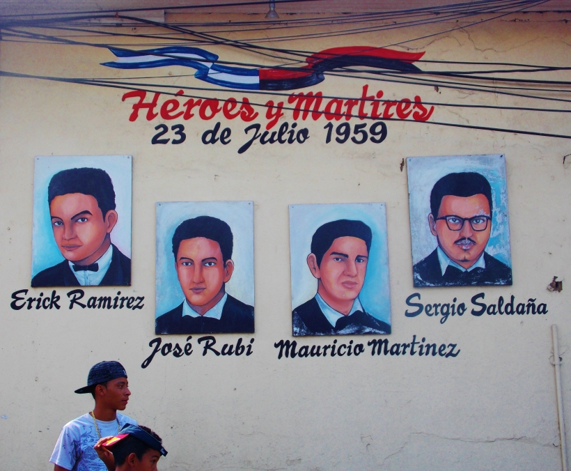 Mural for the 4 students who lost their lives in 1959