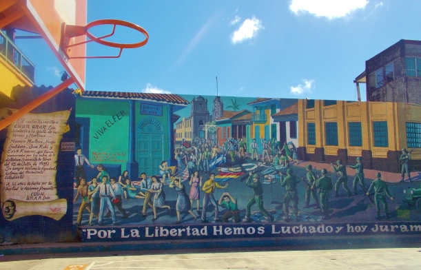 Mural on bb court