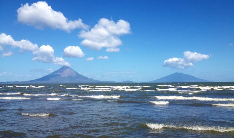 Ometepe as seen from the other shore