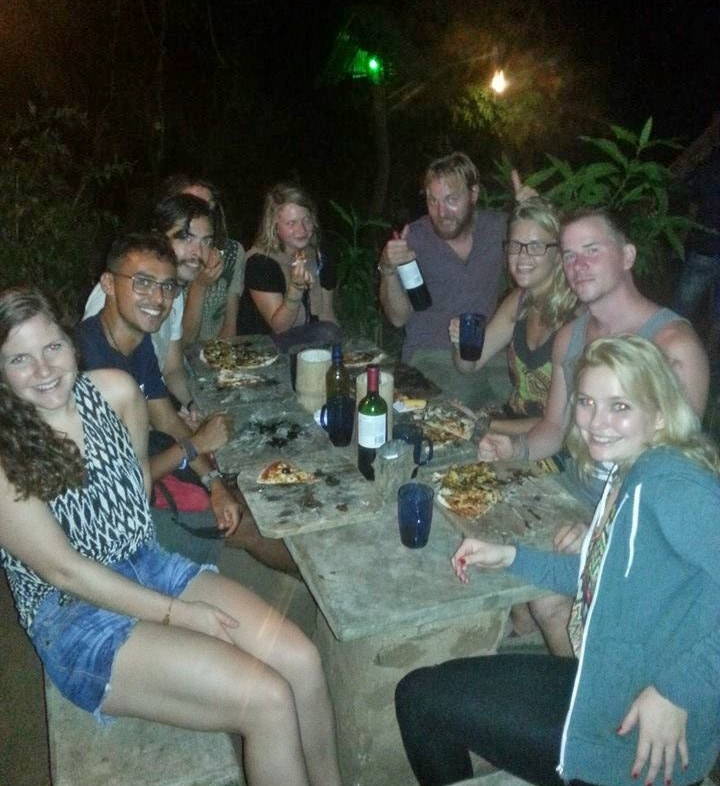 Pizza night at Zopilote (thanks Nina for the picture!)