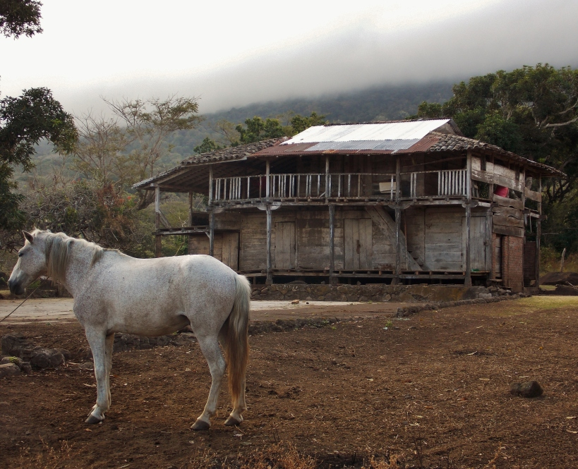 Ramshackle farm on the slopes of Volcan Maderas
