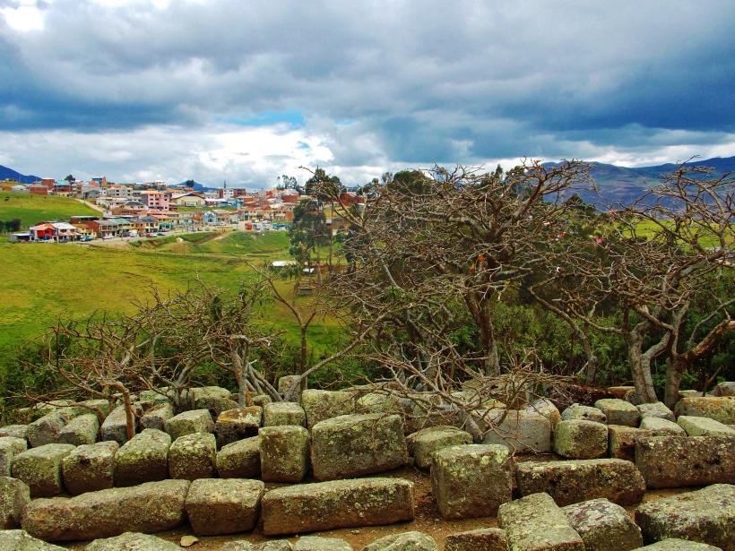Overlooking the nearest town at Ingapirca