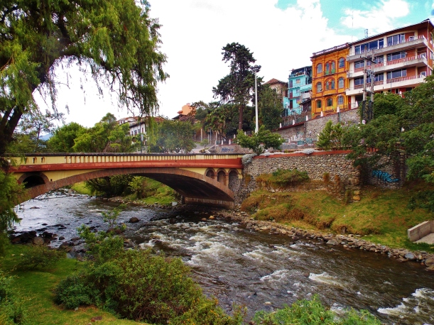 The banks of the river Tomebamba in Cuenca
