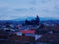 A rare sight of Cotopaxi from Latacunga - Usually too much cloud cover