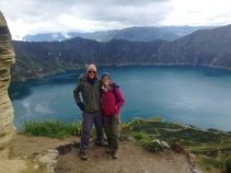 At the top of the crater in Quilotota