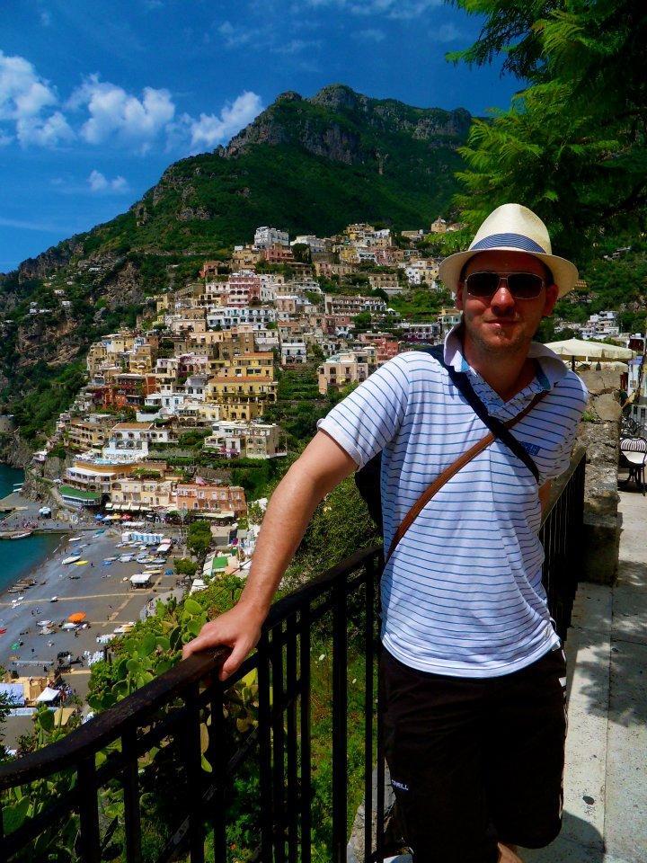 Panama hat wearing in the Amalfi coast in 2012