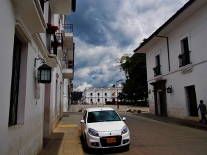 It's all white here in Popayán