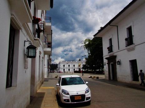 It's all white here in Popayán