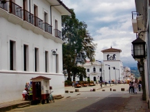 Popayán street leading to the central square