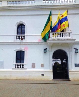 Colombian flag in Popayán