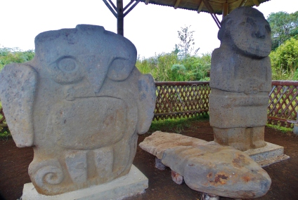 One collection of carvings along the way