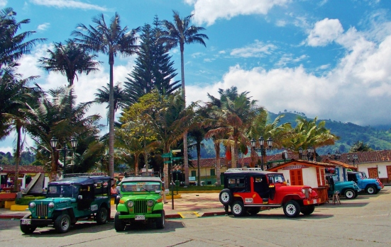Willy's jeeps - Transport from the main square to Cocora