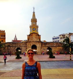 Cartagena clock tower - Classic tourist shot