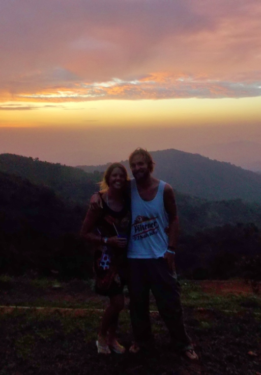 Sunset - Its a poor quality photo, but you get the gist!