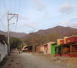 Dusty streets of Taganga