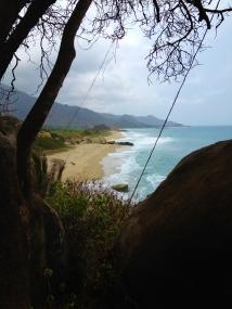 Hiking through - First sight of beach